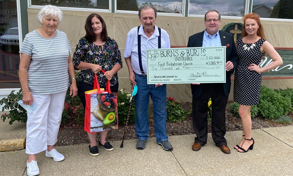 Blog - Press Release- Burns & Burns Insurance Donates 1000 to First Presbyterian Church of Clarion